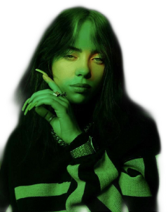 freetoedit billieeilish billie eilish green
