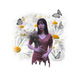 freetoedit dripart drip woman daisy