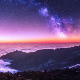 sky amazing wonderful beatiful stars freetoedit