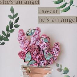 freetoedit angel greenery cyan irclilacinmyhand lilacinmyhand