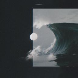 surreal surrealism water waves swirl freetoedit