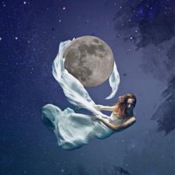 freetoedit space moon giant float ircmoonbeam moonbeam