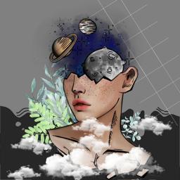 freetoedit surrealist surrealistic girl planet ecsurrealisticworld surrealisticworld