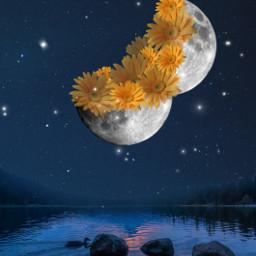 freetoedit moon ecsurrealisticworld surrealisticworld