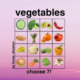 freetoedit bingo vegetables vegetable vegetablebingo