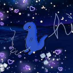 editedmyme dinosauro nighttime