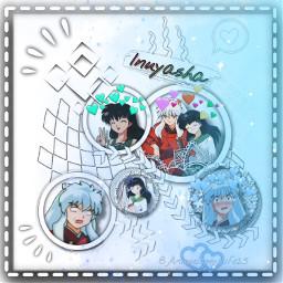 anime inuyasha inuyashaxkagome freetoedit