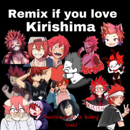 freetoedit anime bnha kirishima
