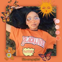 freetoedit blacklivesmatter blm orange orangeaesthetic