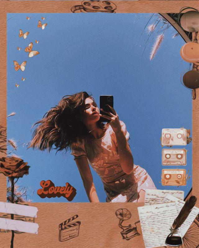 #freetoedit #mirror #girl #mirrorpic #challenge #picsartchallenge 📱💛🥥👑