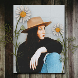 replay portrait girl frame freetoedit