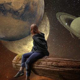 freetoedit edit space surreal planets