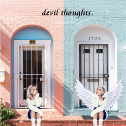 angelface devilthoughts ari luvher freetoedit