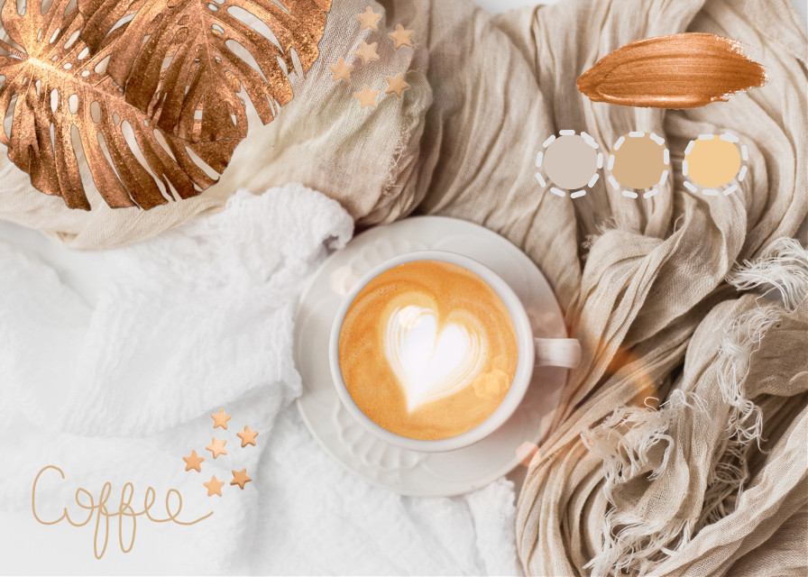 #freetoedit  #coffee #gold #golden #stars