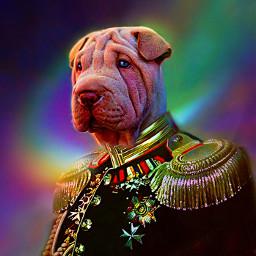 freetoedit myoriginalwork originalart dogportrait sharpei rcprismlights prismlights