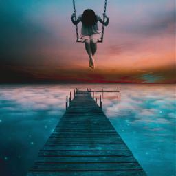 freetoedit surrealism gir sky mistery