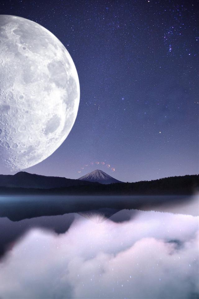 #freetoedit #moon #background #remixit #mountain #moons #aesthetic #scenery #clouds #stars #galaxy #nightsky #papicks