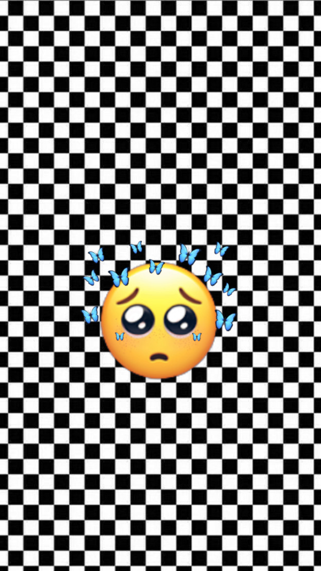 #freetoedit #butterflys #yellow💛 #emoji #sad #checkerd #vansgirls