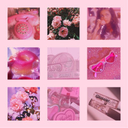 freetoedit pink aesthetic collage ccsummermoodboard summermoodboard #summertime