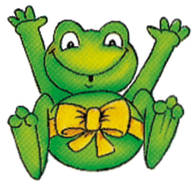frog with a yellow ribbon (whoa there!!) #goblincore #webcore