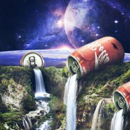 freetoedit surreal surrealism cokecola cokecan ecsurrealisticworld