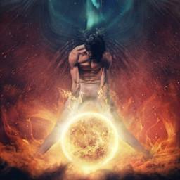 ikarus sun flames greekmythology freetoedit