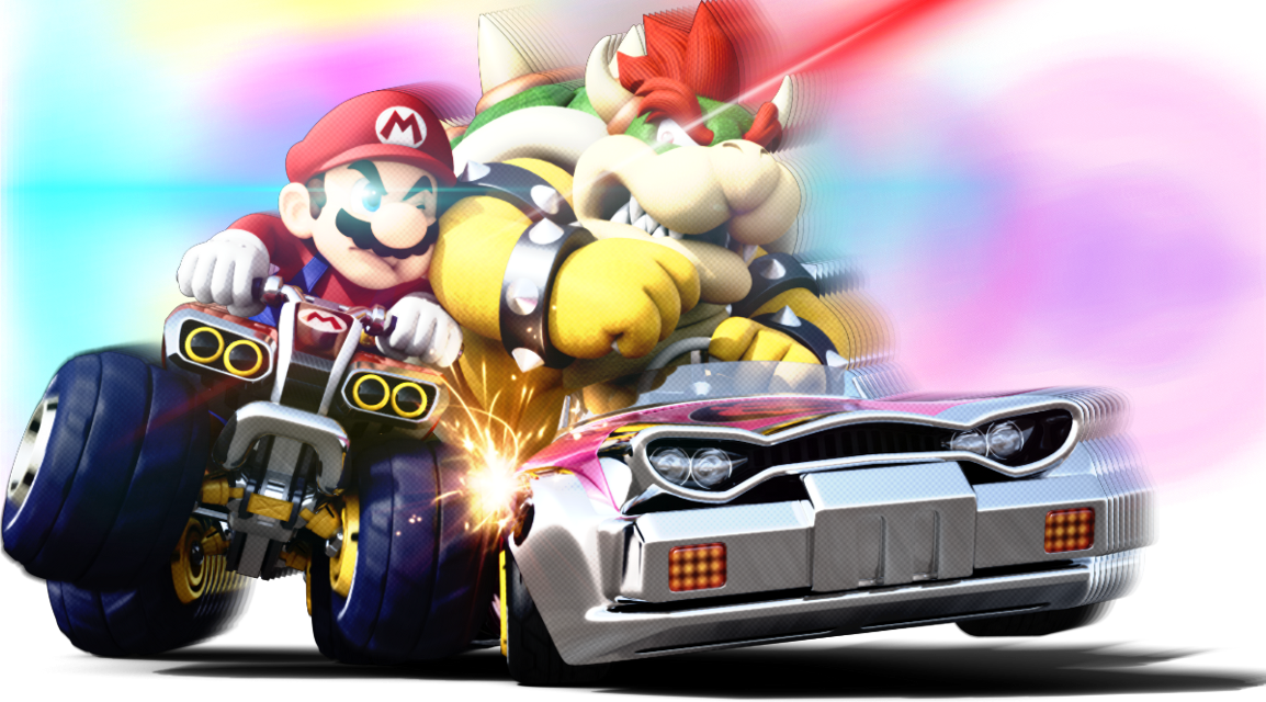 You and your old nemesis, in a race? #mariokart