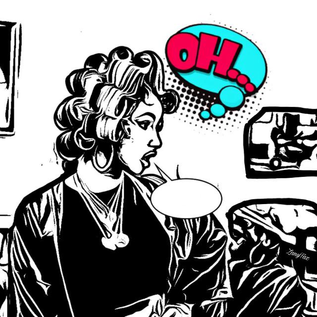 #popart #bubbletext #callout #cardib #celebrity #beauty #art #dialogue #okurrrr  #freetoedit