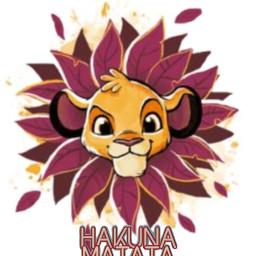 freetoedit hakunamatata lionking simba