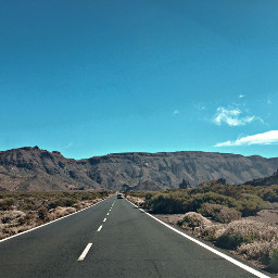 mountain tenerife travel road blue