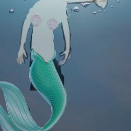sea summer shaggyrogers mermaid party freetoedit