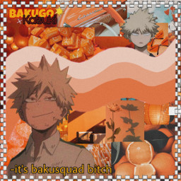 bakugou aesthetic orange freetoedit