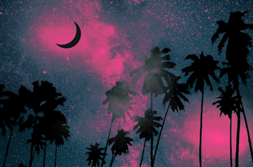 #freetoedit #palms #palmtrees #moon #clouds #nightsky #stayinspired #createfromhome #sky #night #beautiful #dreamy #artisticedit