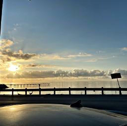 ocean sunrise sunset water sky freetoedit