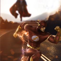 flash superman marvelstudios marvelcomics run dccomics freetoedit