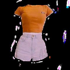 freetoedit dress orange outfit white