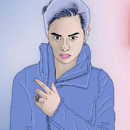 outline drawing edited colorpaint artisticportrait freetoedit