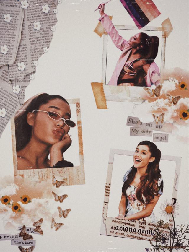 #freetoedit #arianagrande #ariana #grande #aestheticvintage #aesthetic #vintage #backgroundedit #polaroid #polaroidframes #flowers #newspaper #butterflies