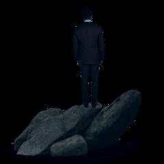 freetoedit standing rocks cliff silhouette