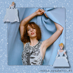 freetoedit mayahawke cinderella blue vintage