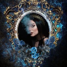 queen crown mirror rose evil ecmirrormirror freetoedit