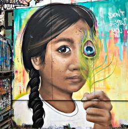 freetoedit berlin germany graffiti girl