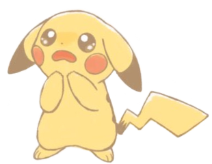 pikachu pika pikachukawaii pikachuuuuuu kawaii scared freetoedit