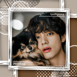 freetoedit kimtaehyung v bts aestheticedit yeontan cutie brown