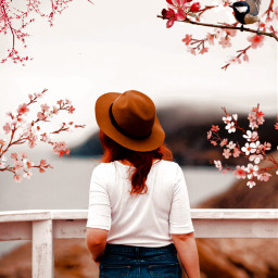 blossom girl creative trees branches freetoedit