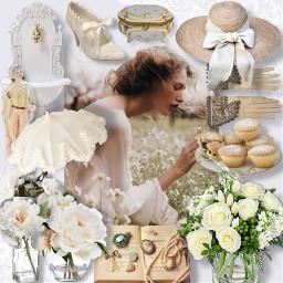 freetoedit picsart collage whiteroses romantic