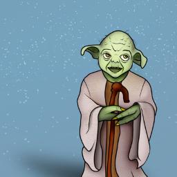 freetoedit mydrawing yoda starwars jedi