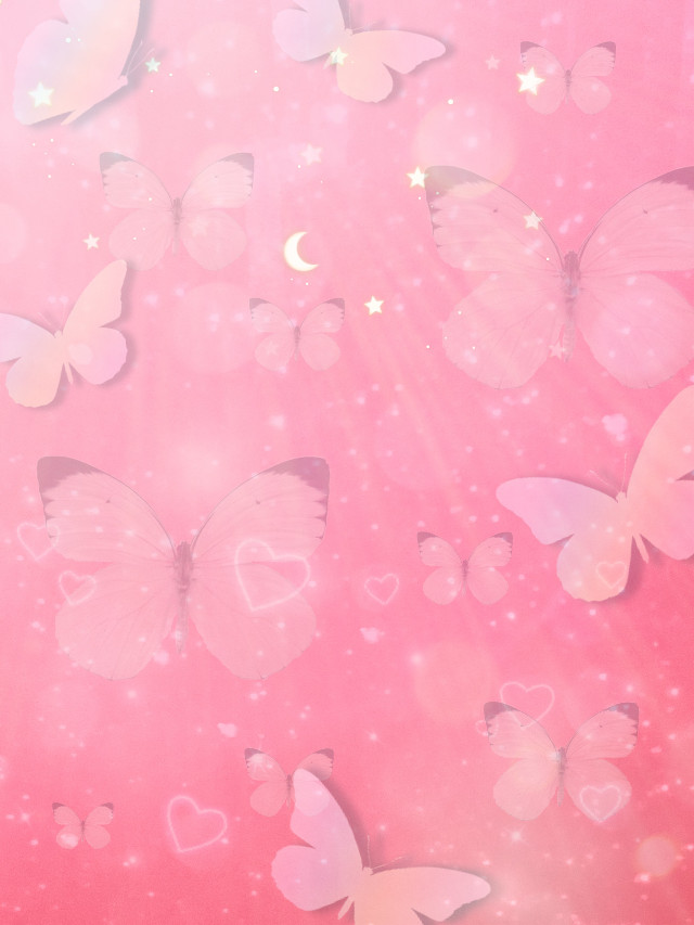 #freetoedit #pinkaesthetic #aesthetic #background #pink #butterflies #cute #wallpaper #background