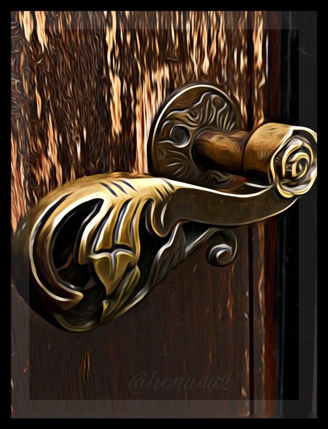 #interesting #doorknob #doorhandle #brass#dailychallenge#myphoto#mydoor#picsartedeting#myday
