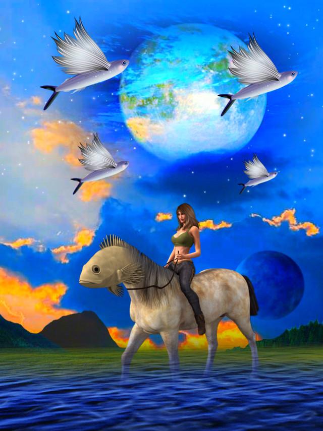 #freetoedit #fish #fantasy #art #surrealism #myedit #madewithpicsart #stickersfreetoedit